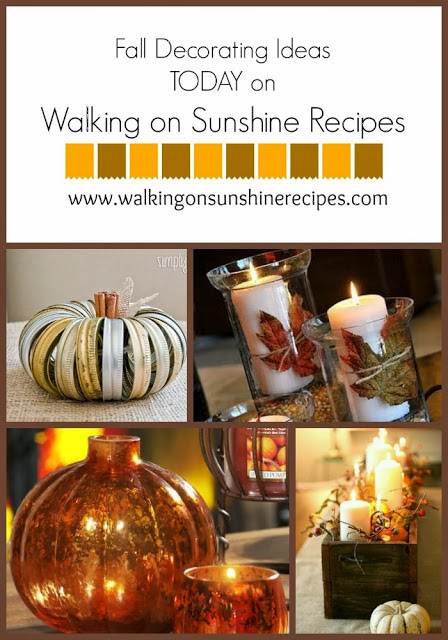 Decorating Outside For Fall Walking On Sunshine Recipes