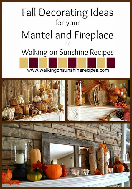 Fall Decorating Ideas | Mantel and Fireplace Decorating Ideas | Walking on Sunshine.