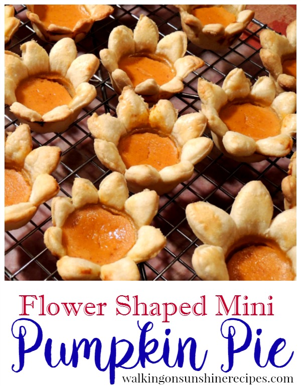 Flower Shaped Mini Pumpkin Pie