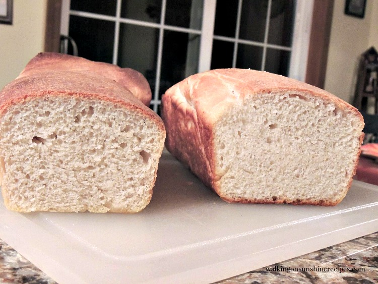Homemade Amish White Bread on cutting board
