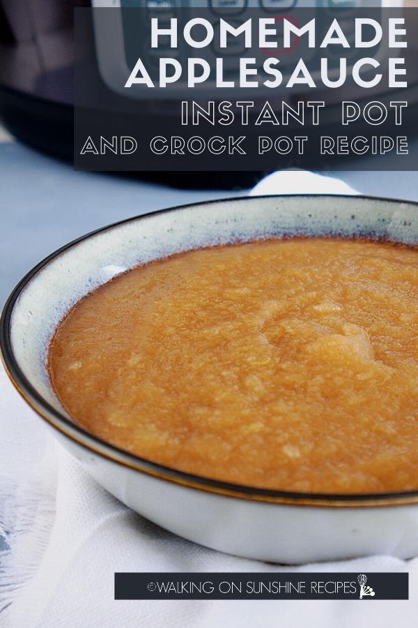 Homemade Applesauce Instant Pot and Crock Pot with logo