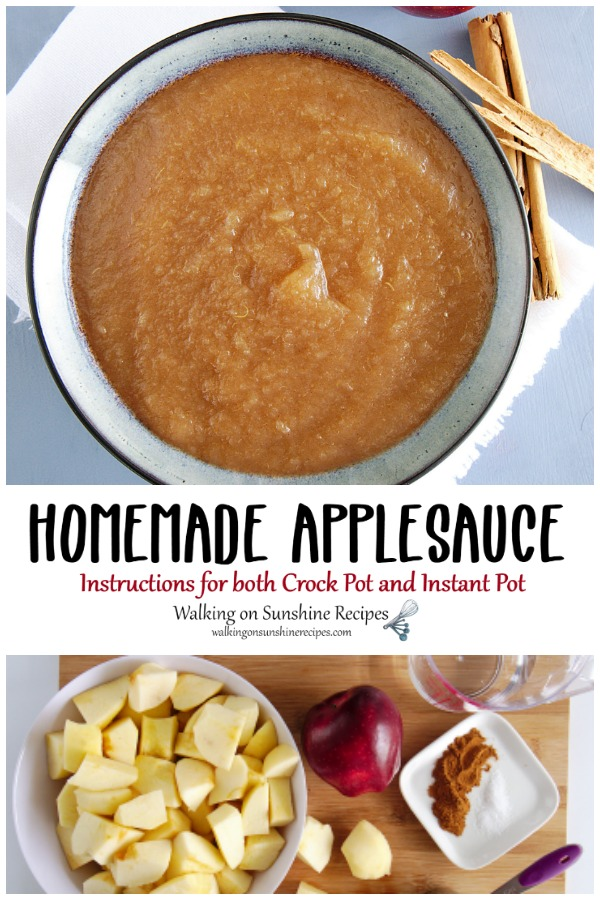 Homemade Applesauce with Instructions for Crock Pot and Instant Pot
