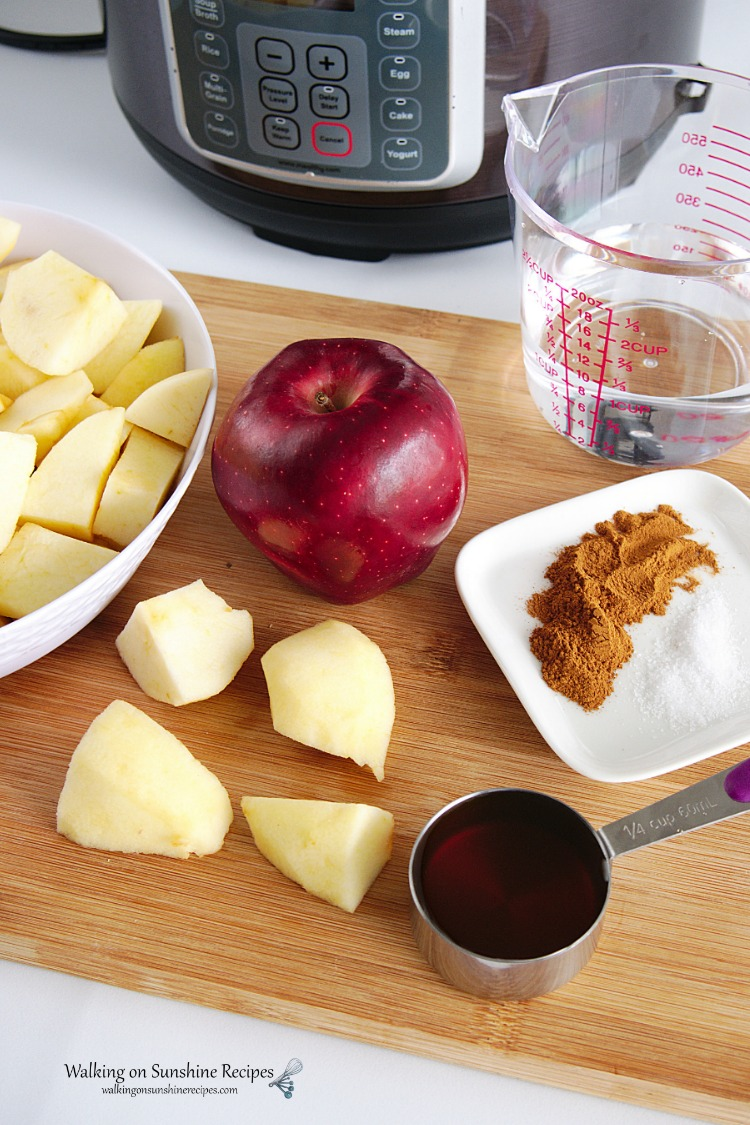 Ingredients for Homemade Applesauce with Instant Pot