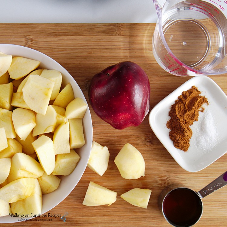 Ingredients for Homemade Applesauce
