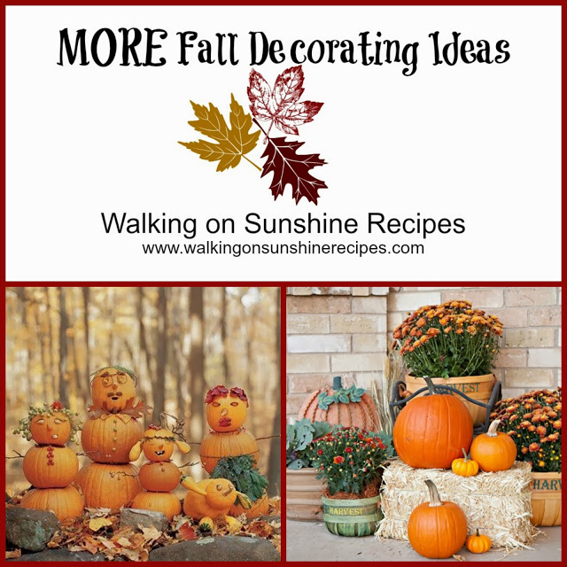 Decorating Outside for Fall   DIY Decorating Ideas for Fall   Walking on Sunshine.