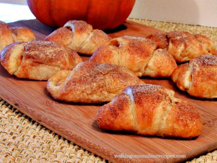 Pumpkin Cream Cheese Crescents