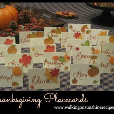 Holidays: Thanksgiving Place Cards