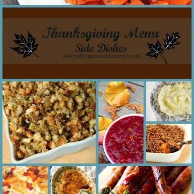 Holidays: The Perfect Side Dishes for Thanksgiving