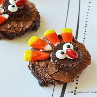 Easy Thanksgiving Turkey Brownies