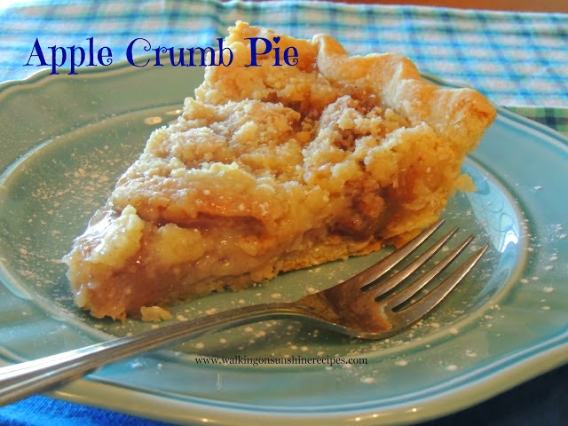 Walking on Sunshine Recipes Apple Crumb Pie