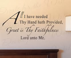 Great is Thy Faithfulness…