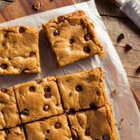 Chocolate Chip Bar Cookies from a Cake Mix