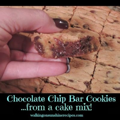 Recipe: Chocolate Chip Bar Cookies from a Cake Mix