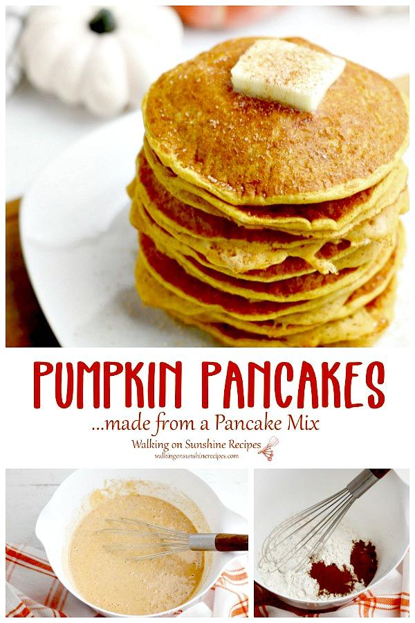 Pancake Mix Pumpkin Pancakes