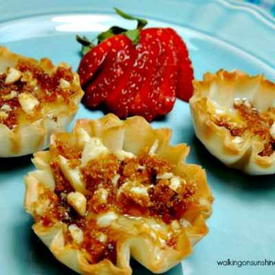 Brie Filled Phyllo Cups