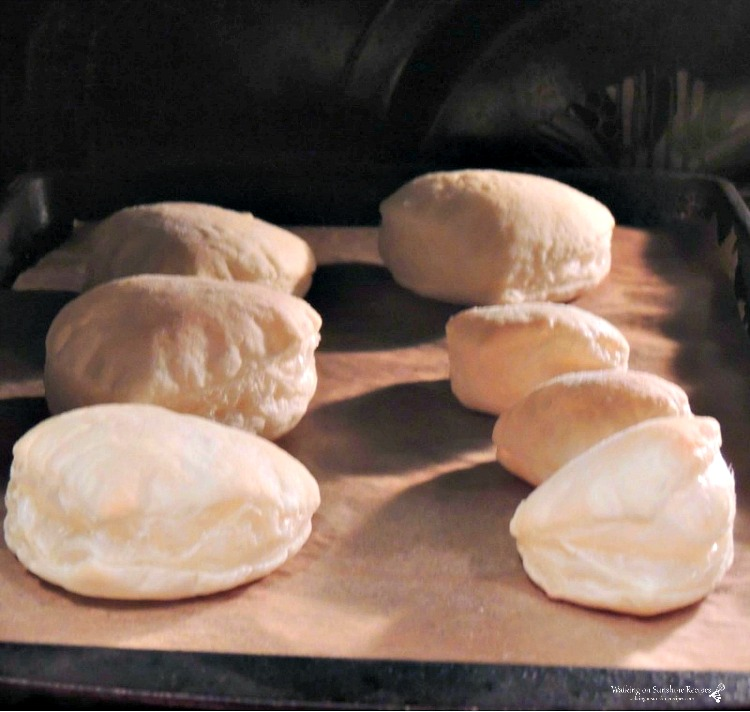 Baked Puff Pastry Hearts on Baking Tray