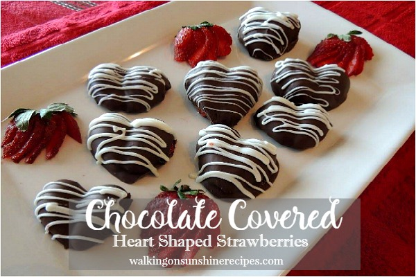 Chocolate Covered Heart Shaped Strawberries from Walking on Sunshine