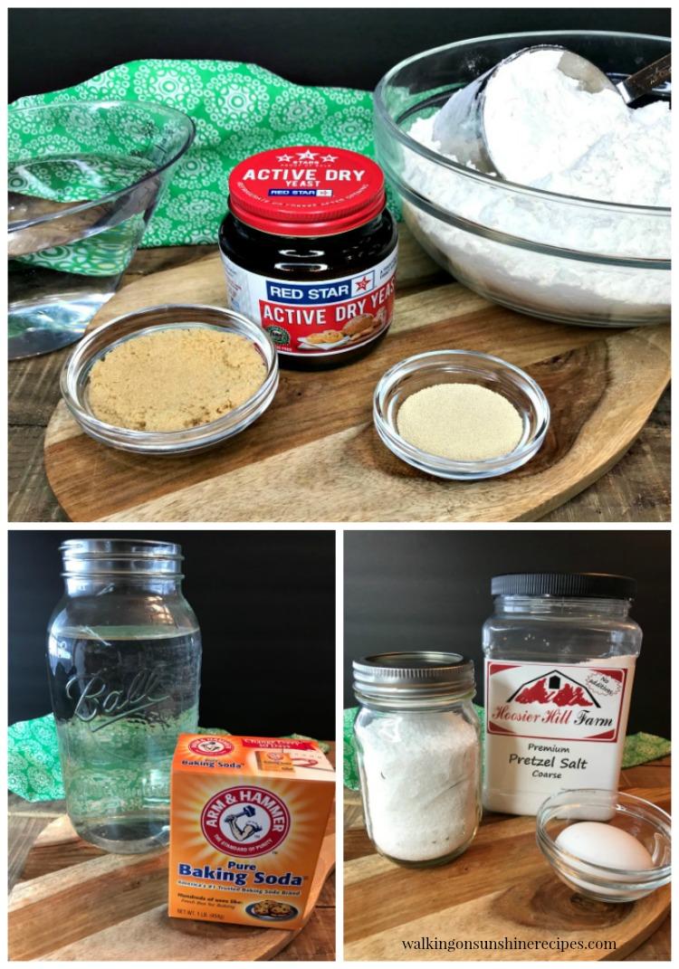 Ingredients for Homemade Pretzel Bites