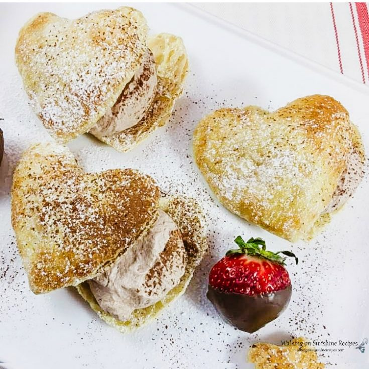 Puff Pastry Valentine's Day Hearts