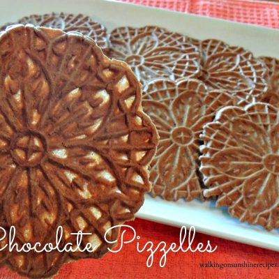 Italian Chocolate Pizzelles