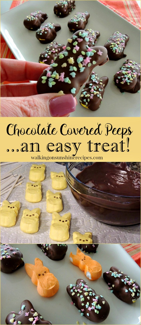 Chocolate Covered Marshmallow Peeps from Walking on Sunshine Recipes
