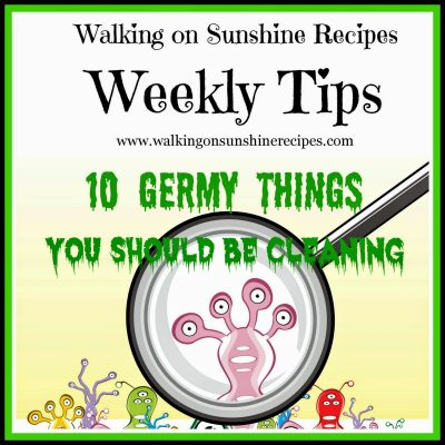 10 Germy Things You Should be Cleaning