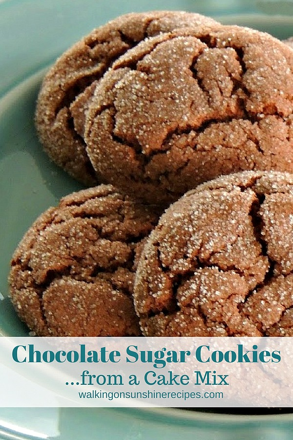 Chocolate Sugar Cookies from a Cake Mix from Walking on Sunshine Recipes