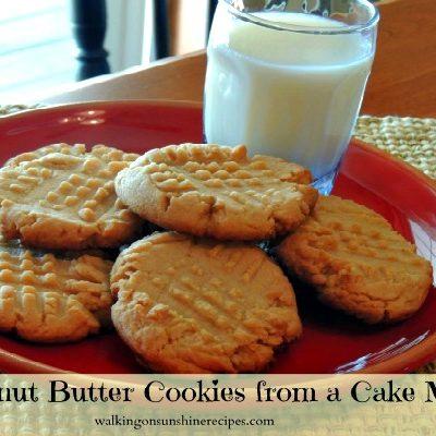 Peanut Butter Cake Mix Cookies