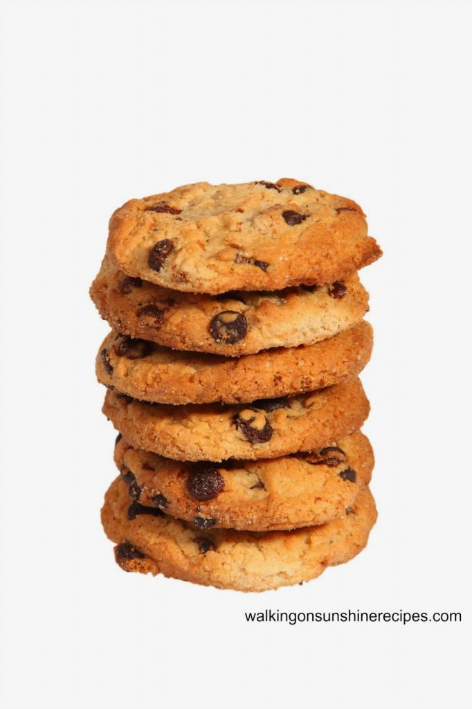 How to Freeze Cookie Dough to have Baked Chocolate Chip Cookies at a later date from Walking on Sunshine Recipes