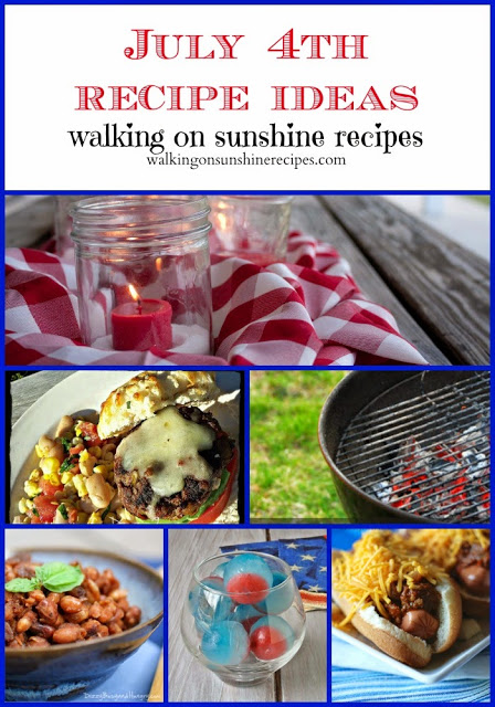 A great collection of menu ideas for your July 4th patriotic celebration and barbecue.