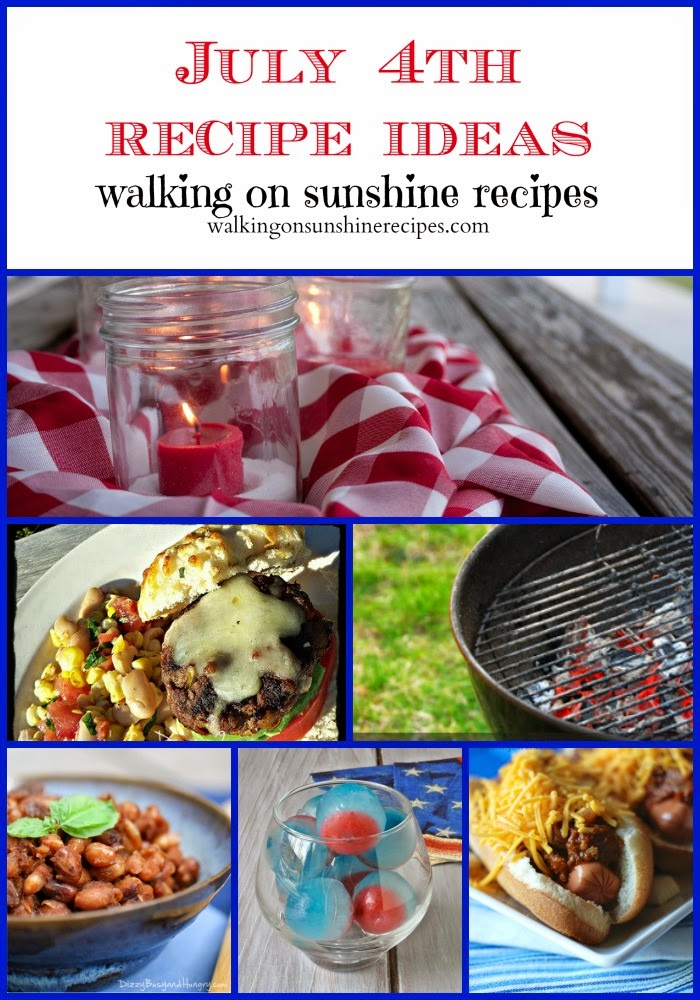 Check out the recipes perfect for your July 4th celebration!