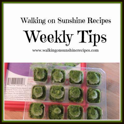 Weekly Tips…Frozen Herbs