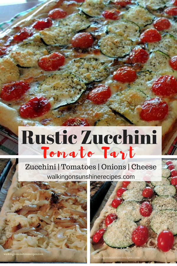 Rustic Zucchini Tomato Tart from Walking on Sunshine Recipes.