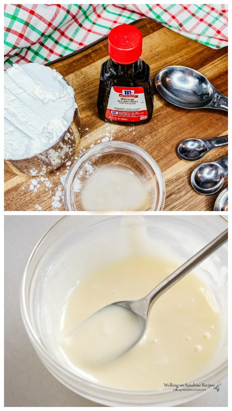 Powdered sugar glaze for Cherry Pie Bubble Up Dessert