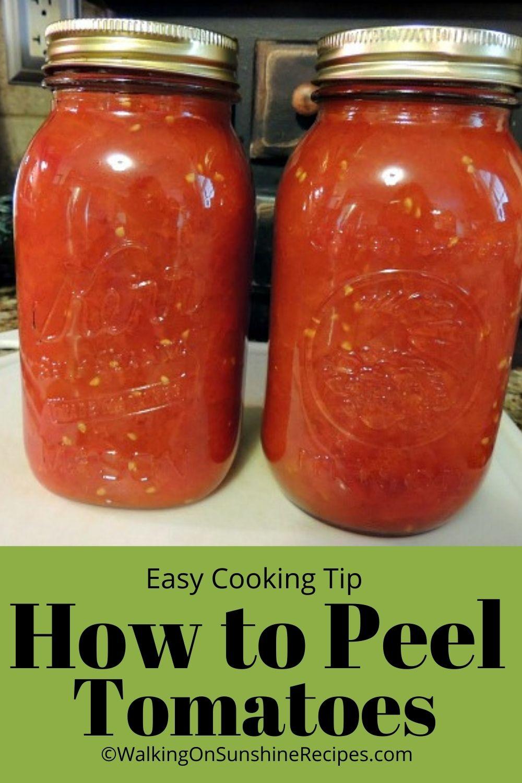 how to peel tomatoes.