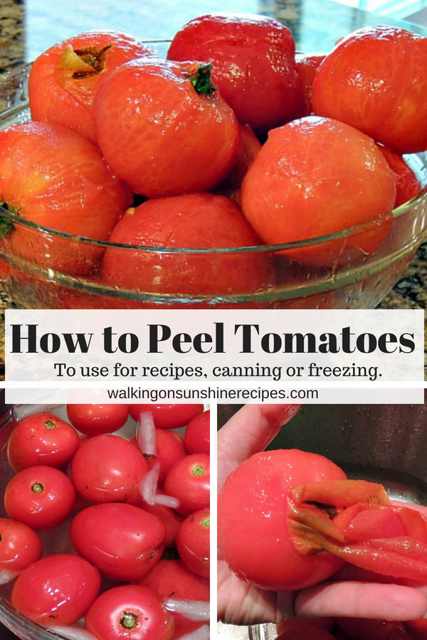 How to Peel Tomatoes to use for Recipes