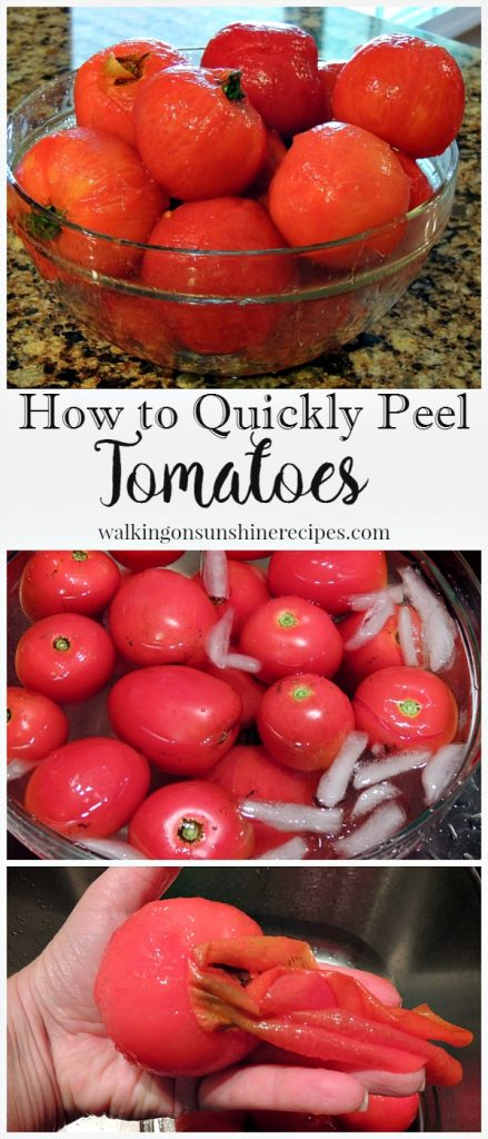 How to Quickly Peel Tomatoes from Walking on Sunshine