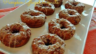 Pumpkin Glazed Donuts with Crumb Topping
