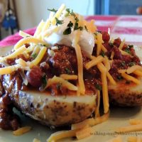 Chili Baked Potatoes