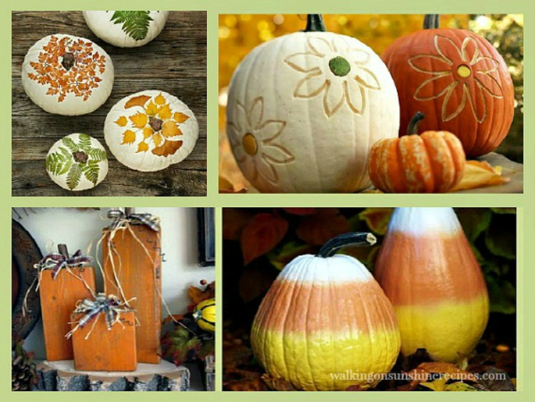 Pumpkin Decorating Ideas from Walking on Sunshine Recipes.