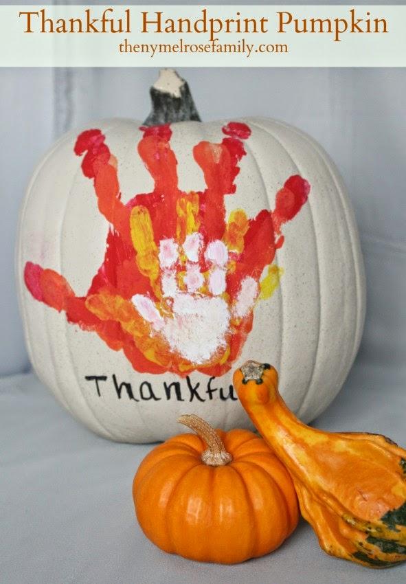 LOVE This Thankful Handprint Idea From The NY Melrose Family