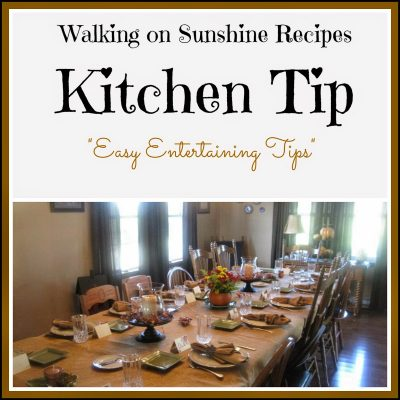 Thanksgiving Day Tips…Kitchen Tip