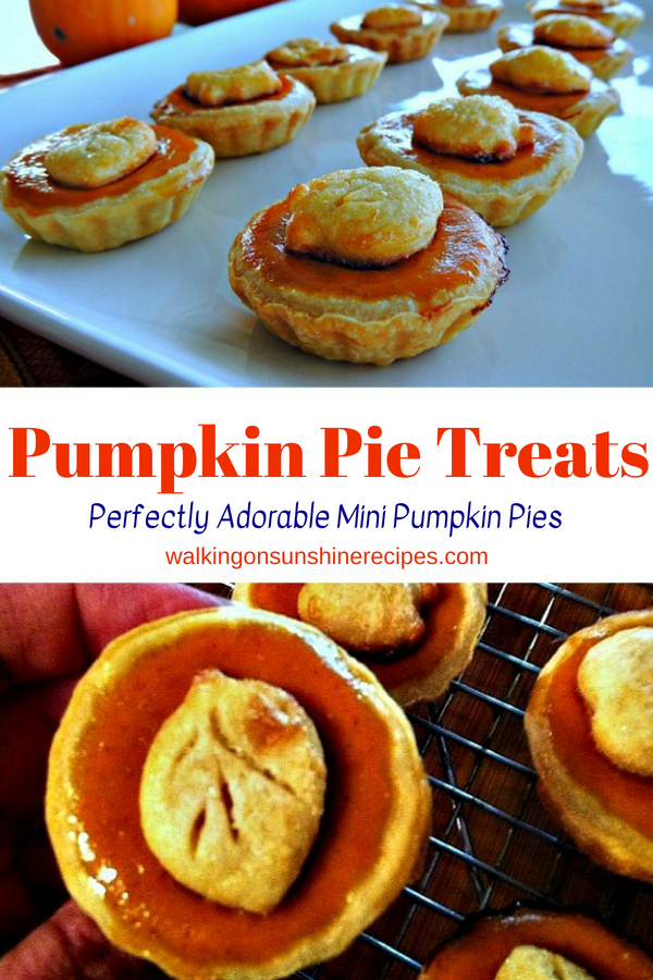 Pumpkin Pie Treats with Leaf Cut Dough Shaped Cut Outs