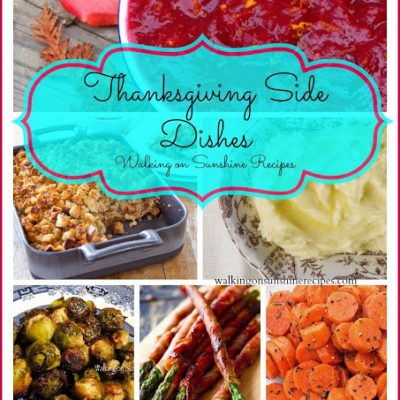 Holidays: Thanksgiving Day Side Dishes 2014