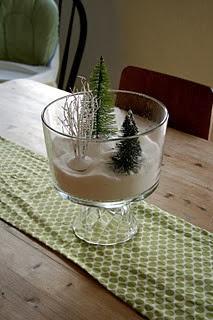 Trifle bowl turned into terrarium