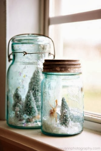 Old Canning Jars for Christmas