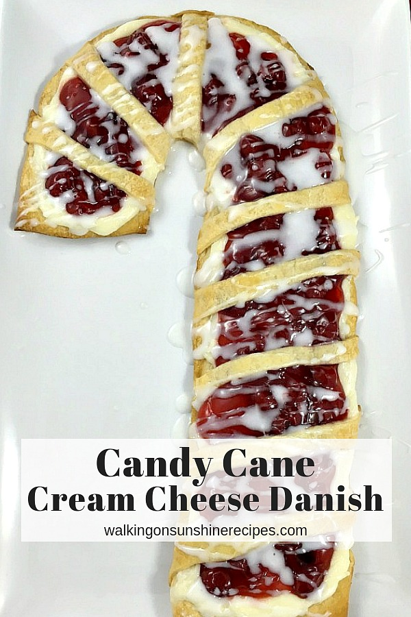 Candy Cane Cream Cheese Danish is the perfect recipe to serve to your family and friends for Christmas.