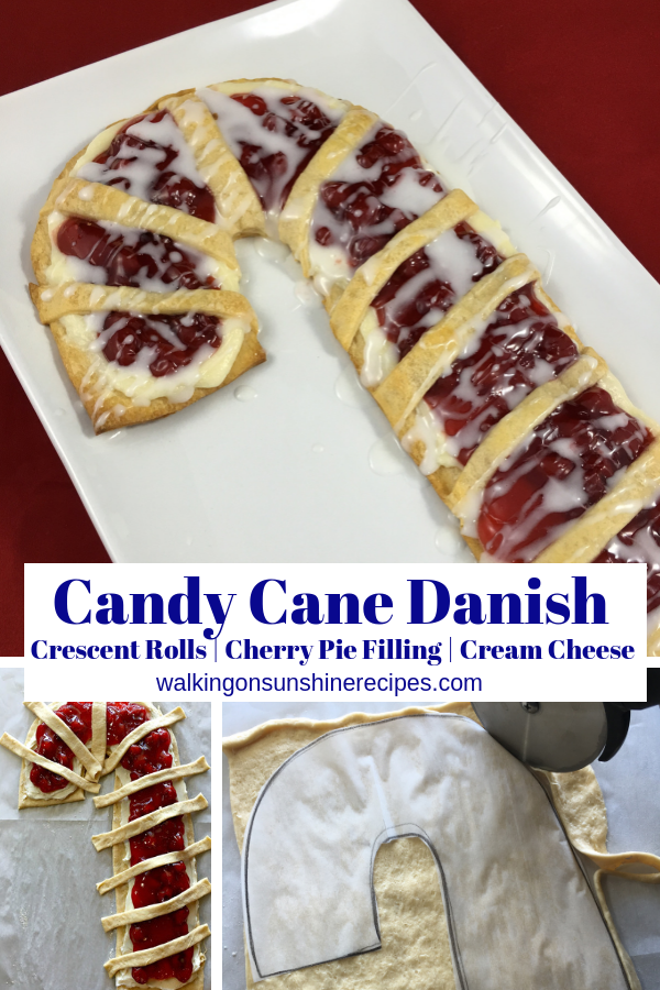 Candy Cane Cream Cheese Danish is easy to make!