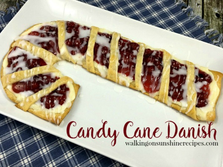 Candy Cane Cream Cheese Danish from Walking on Sunshine Recipes