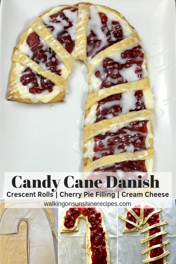 Candy Cane Cream Cheese Danish with step by step photos.
